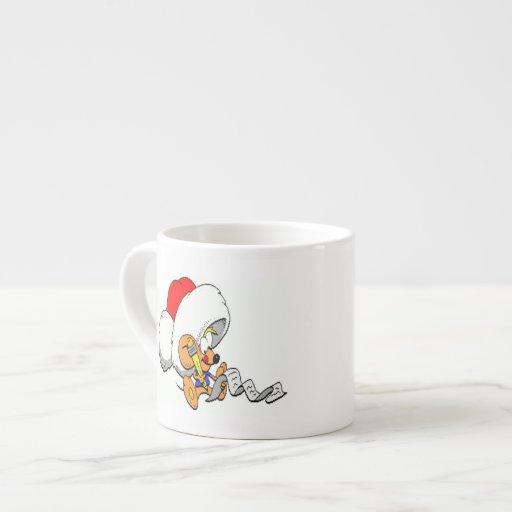 Ratón del día de fiesta tazita espresso