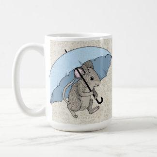 Ratón del día lluvioso taza de café