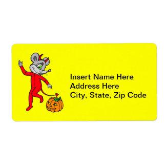 Ratón del diablo etiquetas de envío