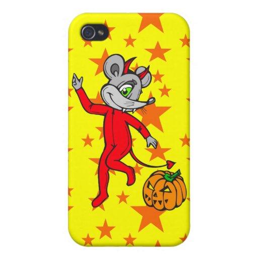 Ratón del diablo iPhone 4 fundas