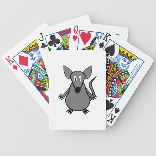 Ratón del dibujo animado baraja cartas de poker