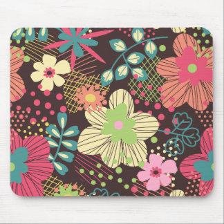 Ratón del diseño floral de Elaina Alfombrilla De Raton