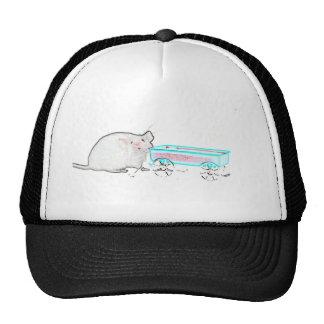 ratón del esquema con los ratones lindos del carro gorros bordados