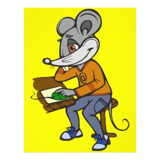 "Ratón del friki del ordenador folleto 8.5"" x 11"""