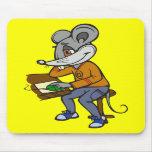 Ratón del friki del ordenador alfombrillas de ratón