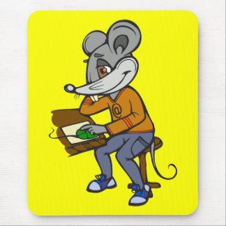 Ratón del friki del ordenador alfombrilla de ratón