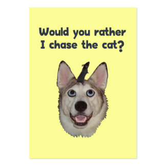 Ratón del gato del perro plantilla de tarjeta de visita