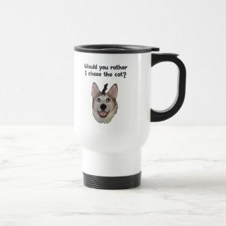 Ratón del gato del perro taza de café