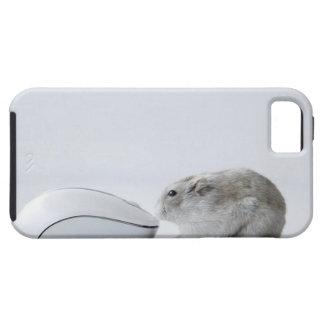 Ratón del hámster y del ordenador iPhone 5 Case-Mate coberturas