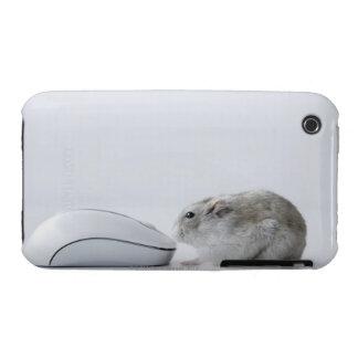 Ratón del hámster y del ordenador iPhone 3 fundas