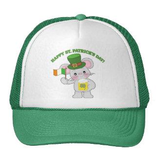Ratón del irlandés del día de St Patrick feliz Gorras De Camionero