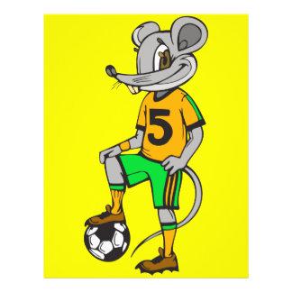 """Ratón del jugador de fútbol folleto 8.5"""" x 11"""""""