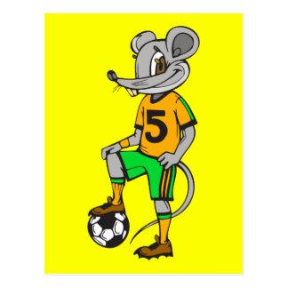 Ratón del jugador de fútbol postal