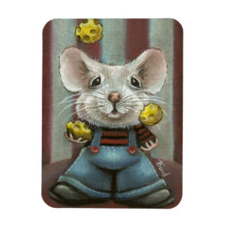 Ratón del juglar imanes rectangulares