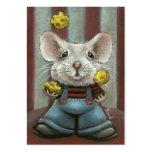 Ratón del juglar tarjeta de visita