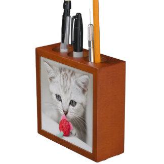 Ratón del juguete del gatito británico del shortha portalápices