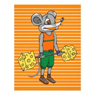 """Ratón del levantamiento de pesas del queso folleto 8.5"""" x 11"""""""