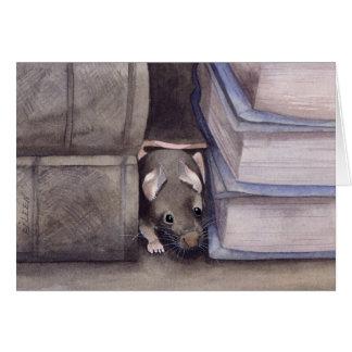 Ratón del libro tarjeta de felicitación
