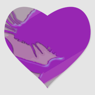Ratón del Lollipop Pegatina En Forma De Corazón