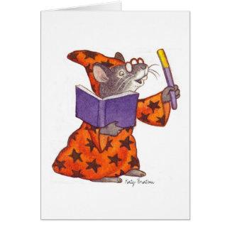 Ratón del mago tarjeta de felicitación