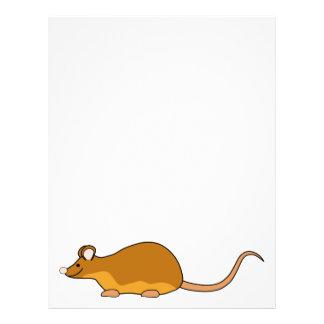 """Ratón del mascota del rojo y del moreno folleto 8.5"""" x 11"""""""