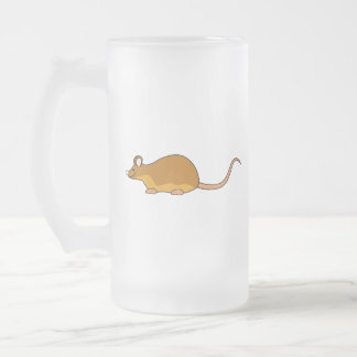 Ratón del mascota del rojo y del moreno taza de cristal