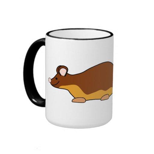 Ratón del mascota. Marrón, Tan. Taza