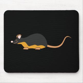 Ratón del mascota. Tan. negro Alfombrillas De Raton