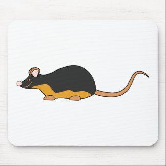 Ratón del mascota. Tan. negro Tapete De Ratones