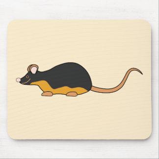 Ratón del mascota. Tan. negro Alfombrilla De Ratón
