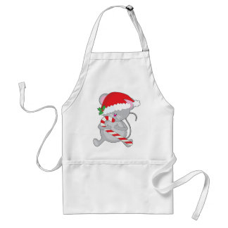 Ratón del navidad delantal
