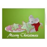 Ratón del navidad el ladrón de la galleta felicitacion