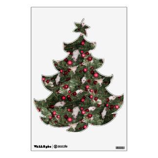 Ratón del navidad: Etiqueta de la pared del árbol