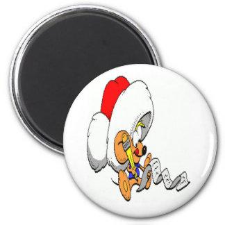 Ratón del navidad imán redondo 5 cm