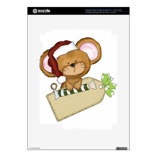 Ratón del navidad iPad 3 skins