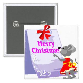 Ratón del navidad pin