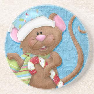 Ratón del navidad posavaso para bebida