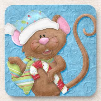 Ratón del navidad posavasos