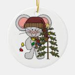 Ratón del navidad que adorna el árbol ornamento de navidad