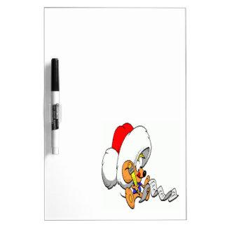 Ratón del navidad tablero blanco