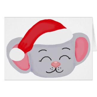 Ratón del navidad tarjetón