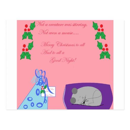 Ratón del navidad tarjetas postales