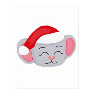 Ratón del navidad postal