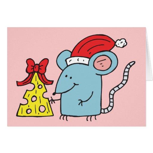 Ratón del navidad tarjetas