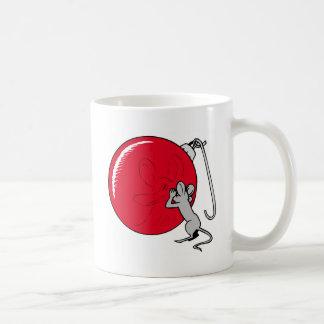 Ratón del navidad tazas de café