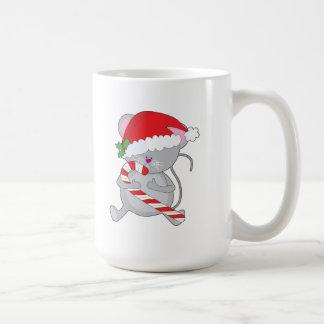ratón del navidad taza de café