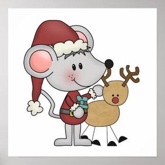 Ratón del navidad y póster