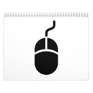 Ratón del ordenador calendario