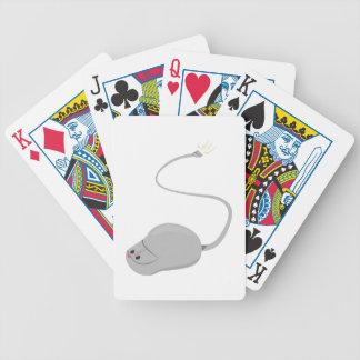 Ratón del ordenador barajas de cartas