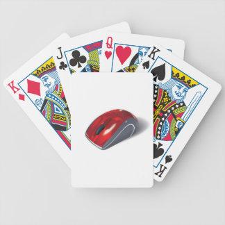 Ratón del ordenador baraja cartas de poker